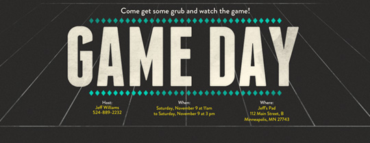 Game Day Invitation