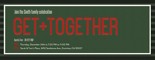 Get Together Christmas Invitation