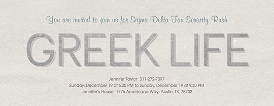 Greek Life Invitation