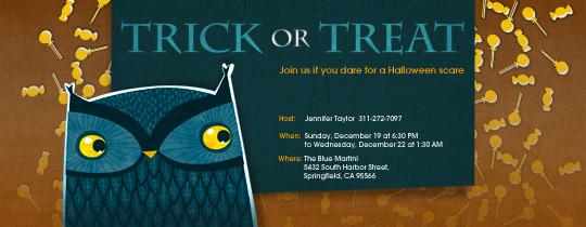 Halloween Owl Invitation