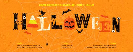 halloween evites