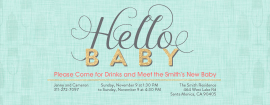 Hello Baby Invitation