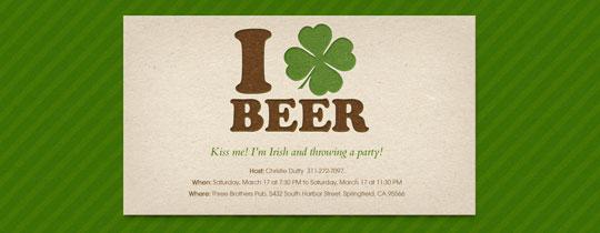 Irish Beer Invitation