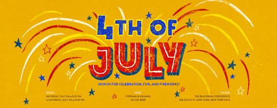 July Fourth Invitation