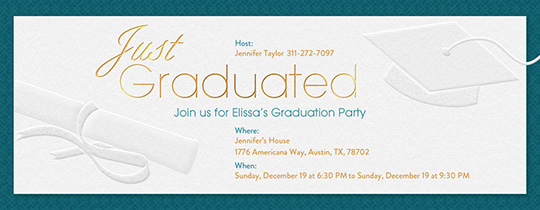 Just Graduated Invitation
