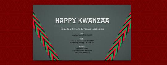 Kwanzaa Invitation