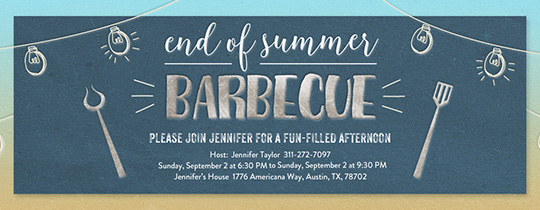 Labor Day BBQ Party Invitation