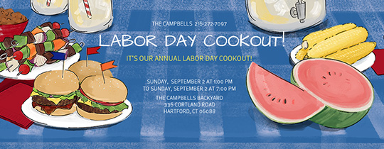 Labor Day Cook Out Invitation