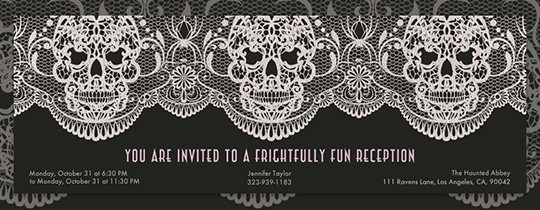 Lace Skull Invitation