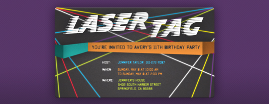 Invitations Free eCards and Party Planning Ideas from Evite – Laser Tag Party Invitations