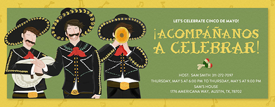Mariachi Band Invitation