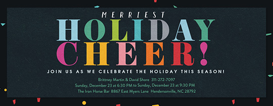 Merriest Confetti Invitation