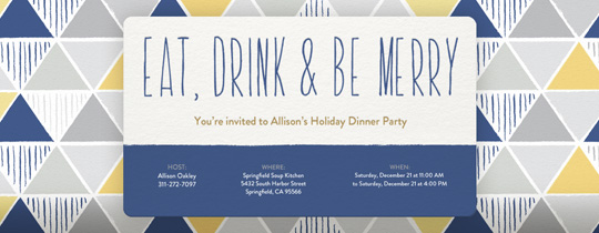 Merry Mosaic Invitation
