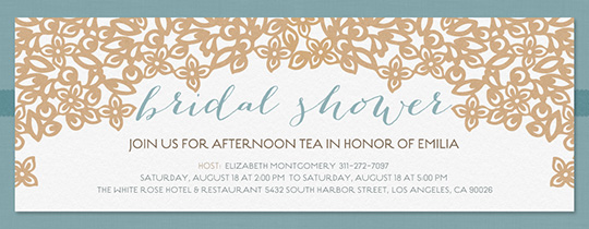 Modern Shower Invitation