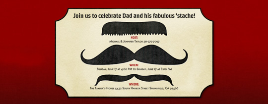 Mustachio Invitation