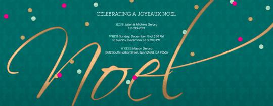Noel Confetti Invitation