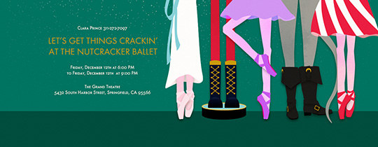 Nutcracker Feet Invitation