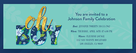 baby shower invitation ohboy