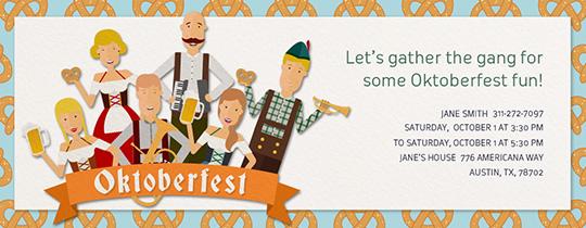Online Oktoberfest party invitations Evite – Oktoberfest Party Invitations