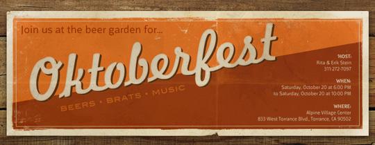 Oktoberfest Poster Invitation