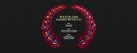 Olive Wreath Invitation