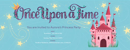 Invitations free ecards and party planning ideas from evite onceuponatime invitation free filmwisefo
