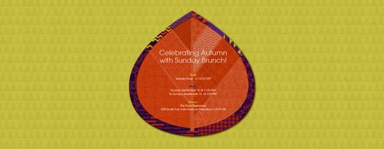 Patchwork Leaf Invitation