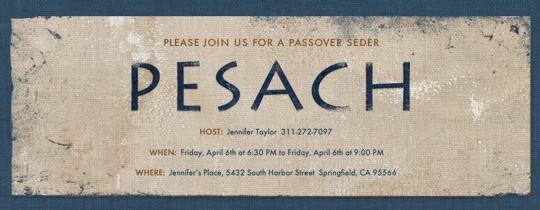Pesach Invitation