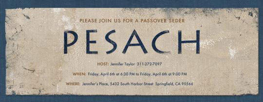 Pesach Invitation