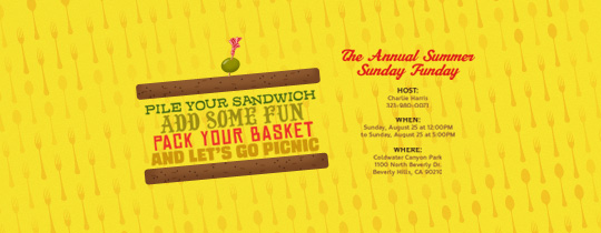 Picnic Sandwich Invitation