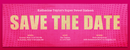 Save the date birthday free online invitations free merriest berry confetti save the date pink squeeze invitation pronofoot35fo Image collections