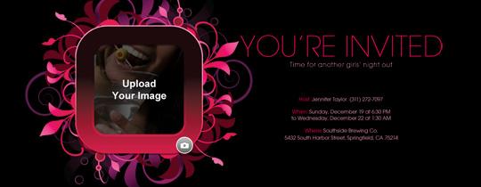 Pink Vines Invitation