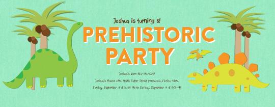 Prehistoric Party Invitation