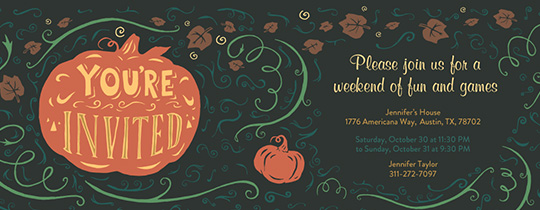 Pumpkin Swirl Invitation