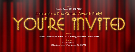Invitations Red Carpet Fashion Dresses