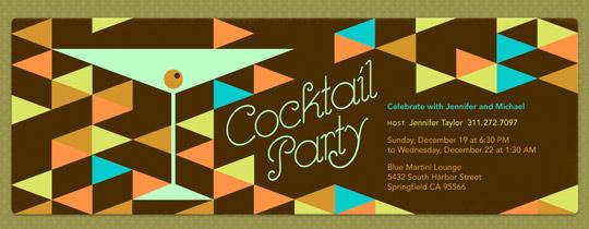 Retro Cocktail Invitation