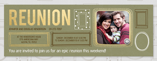 Reunion Frames Invitation