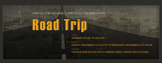 Road Trip Invitation