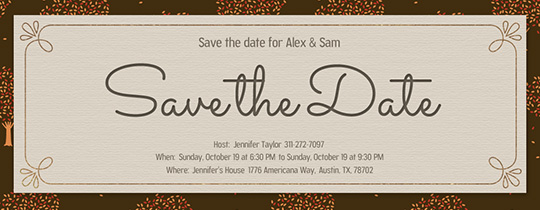Save The Date Fall Invitation