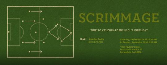 Scrimmage Invitation