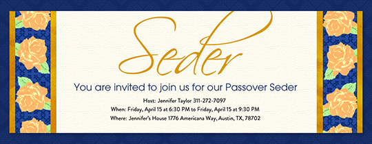 Seder Flowers Invitation