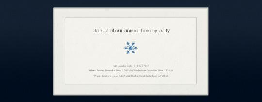 Simple Snowflake Invitation