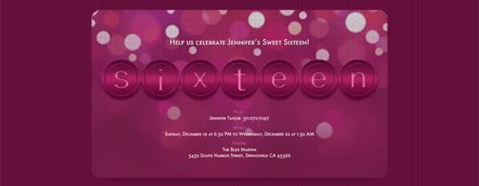 Sixteen Invitation