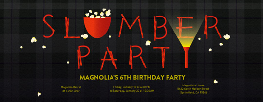 Slumber Party Fun Invitation