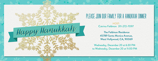 Snowflake Star of David Invitation