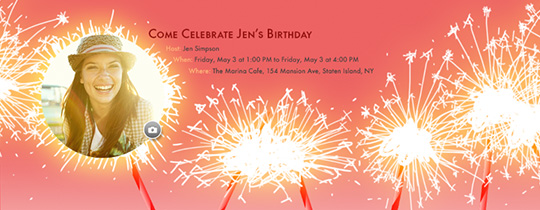 Sparkling Candles Invitation