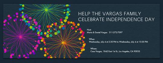 Spirograph Fireworks Invitation