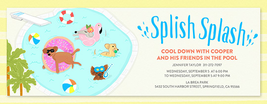 Pool Party Splish Splash Invitation