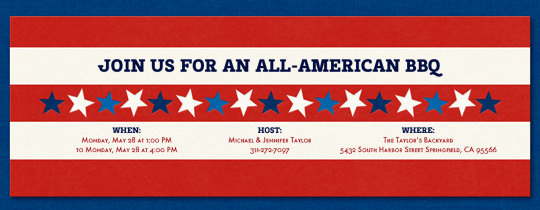 Stars and Stripes Invitation