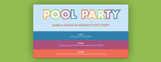 Summer Colors Invitation